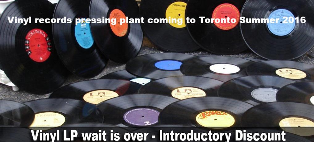 Vinyl LP Record Pressing Plant In Toronto