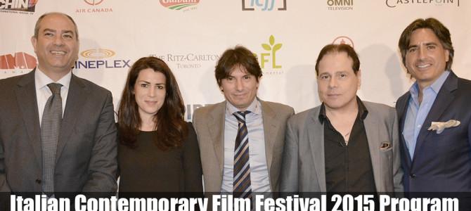 Italian Contemporary Film Festival 2015 Program