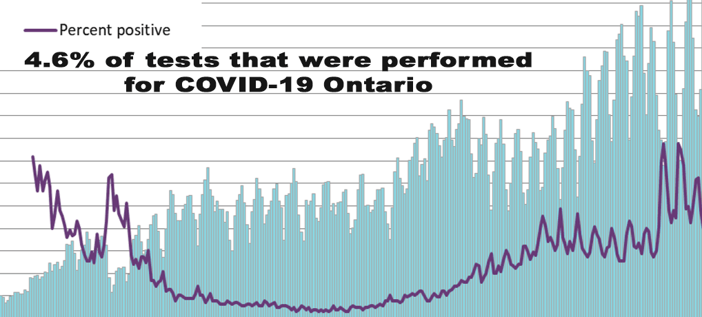 4.6% of tests that were performed for COVID-19 Ontario